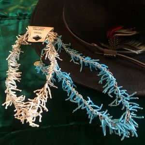 2 ZAD Western Beaded Choker Statement Necklaces